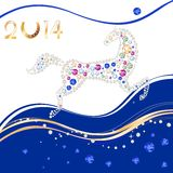 Symbol of the New Year Royalty Free Stock Images
