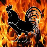 Symbol 2017 new year. Rooster. symbol 2017 new year Stock Photos