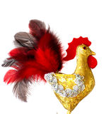 Symbol New Year 2017 of rooster. Hand made craft Royalty Free Stock Images