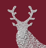 Symbol new year xmas deer made from white Stock Image
