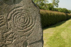 Symbol at Newgrange, Ireland Stock Photos