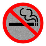 Symbol of No Smoking Zone Sign. With Reflect background Royalty Free Stock Image