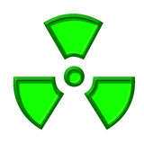 Symbol of nuclear danger. There is a green symbol of nuclear danger with edges Royalty Free Stock Photos