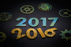 Symbol from number 2017 Stock Photos