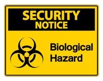 symbol ochrony zawiadomienia zagrożenia symbolu Biologiczny znak na białym tle, Wektorowa ilustracja ilustracji