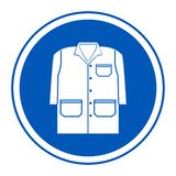Symbol odzież Wektorowa ilustracja EPS, toga Odizolowywa Na Białym tle 10 royalty ilustracja