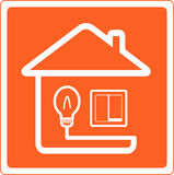 Symbol Of Electricity In The House With Light Swit Stock Photos