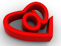 Free Symbol Of Internet As Heart Royalty Free Stock Photo - 3367885