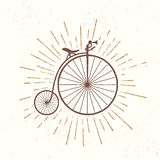 Symbol of old vintage bicycle Royalty Free Stock Photos