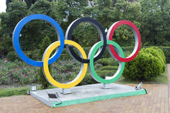 The symbol of the Olympic Games Stock Images