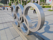 Symbol of Olympics. Can be found around the world Stock Photo