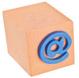 @ Symbol on Orange Cube Royalty Free Stock Photography