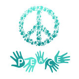 Symbol of pacifism and peace Royalty Free Stock Photography