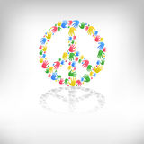 Symbol of pacifism and peace Stock Photos