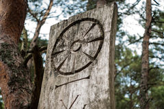 The symbol of paganism. Paganism is a broad group of indigenous and historical polytheistic religious traditions—primarily those of cultures known to the Royalty Free Stock Images