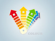 Symbol of a paint for the house Stock Photos