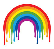 Symbol of painted rainbow arc, vector stock illustration
