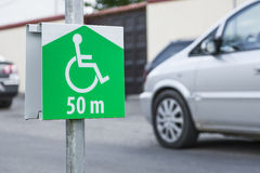 Symbol of the parking for disabled person. Stock Image