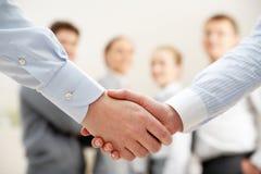 Symbol of partnership. Image of business handshake after making agreement Stock Photos