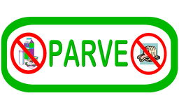Symbol: PARVE Meat and Diary Free. Symbol used to describe food that has no meat or dairy products Vector Illustration
