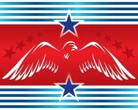 Symbol_patriotic Fahne des Adlers Lizenzfreies Stockfoto