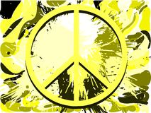 Symbol of peace on abstract colorful background Stock Photos