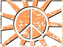 Symbol of peace on abstract colorful background Stock Photography
