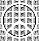 Symbol of peace on background in grey tones Stock Image
