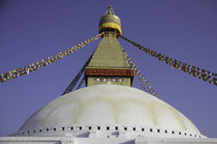 Symbol of Peace is Buddha. Boudhanath is place where Buddhist people use to make round to their lord Buddha. Stock Image
