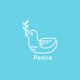 Symbol of peace dove Stock Image