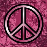 Symbol of peace on floral background Stock Photo