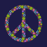 Symbol of peace, Pacific, made up of flowers. Royalty Free Stock Images