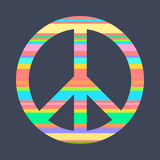 A symbol of peace, Pacific, painted in bright stripes. Royalty Free Stock Photo