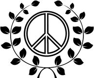 A symbol of peace, pacific. Vector illustration Stock Photography