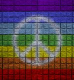 peace color on wall with symbol royalty free stock images
