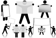 Symbol People Hold Sign Background Spaces Royalty Free Stock Image