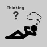 Symbol of people lying thinking Stock Photo