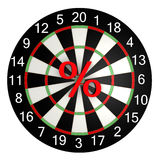 Symbol percent in the center of the board for darts Royalty Free Stock Images