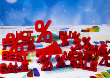 Symbol percent, Concept of discount Stock Photo