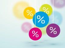 Symbol percent discounts Stock Image