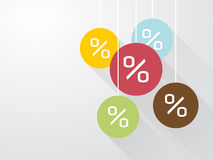 Symbol percent discounts Royalty Free Stock Image
