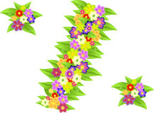 Symbol of percent made of flowers for discounts Royalty Free Stock Photography