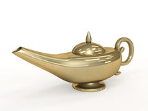 Symbol performance of desires - 3d magic lamp Royalty Free Stock Images