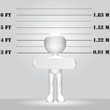Symbol Person 3D WANTED lineup mugshot Stock Images