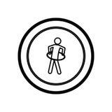 symbol person do exercise γυμναστική Στοκ Φωτογραφίες