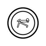 symbol person do exercise γυμναστική Στοκ Εικόνες