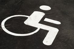Symbol of a person in a wheelchair Royalty Free Stock Images