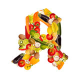 Symbol for pharmacy of fruits and vegetables Royalty Free Stock Image