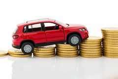 Symbol photo car costs Royalty Free Stock Photo