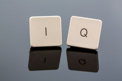 Symbol photo intelligence quotient. The letters iq as a symbol photo for intelligence quotient royalty free stock images